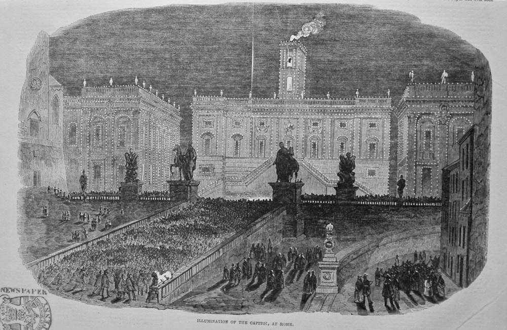 Illumination of the Capitol, at Rome. 1849.