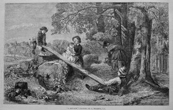 """A See-Saw,""- Painted by T. Webster, R.A. 1849."