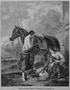 """""""The Wounded Greek.""""- Painted by A. Cooper, R.A. 1849."""