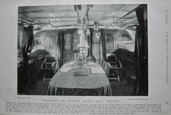 """Ward-Room and Officers' Berths, H.M.S. """"Bruiser."""" 1897."""