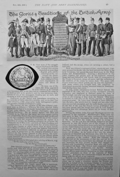 The Glories and Traditions of the British Army : The Gloucestershire Regiment. 1897.