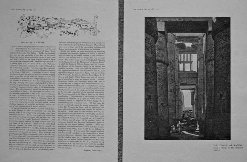 A Letter from Abroad.- The Ruins of Karnak. 1895.
