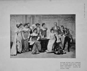 """Madame Rejane and Company in """"Madame Sans-Gene,"""" Now being Performed at the Garrick Theatre. 1895."""