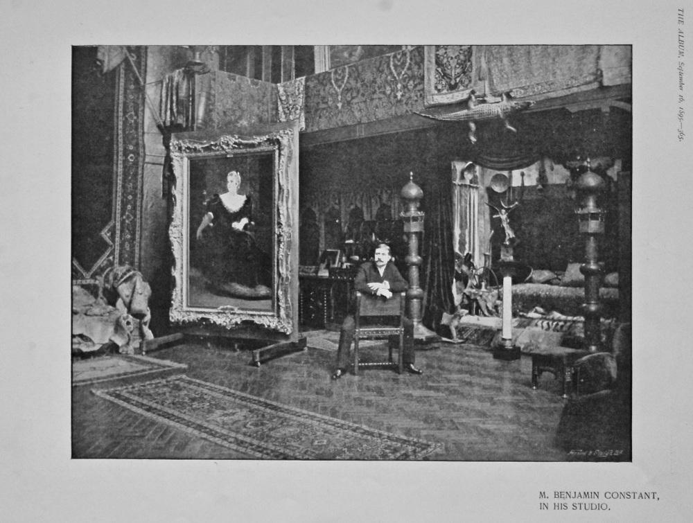M. Benjamin Constant, in His Studio. 1895.