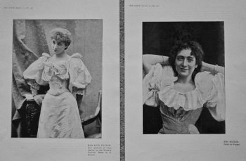 Miss Kate Cutler, & Miss Madder. (Portrait Photographs) 1895.