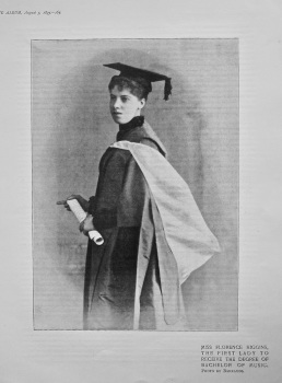 Miss Florence Higgins, the First Lady to Receive the Degree of Bachelor of Music. 1895.