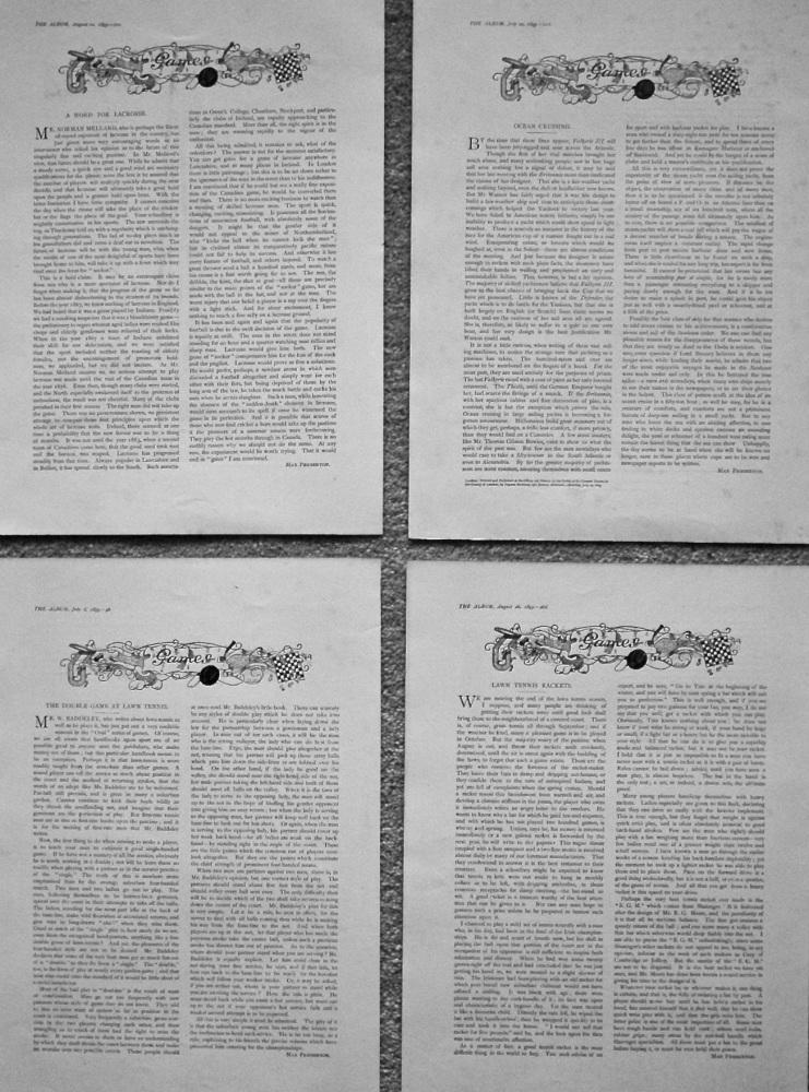 Games. (Articles written by Max Pemberton.) 1895.