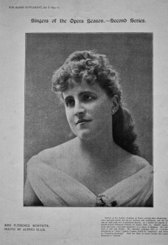 Miss Florence Monteith. 1895.