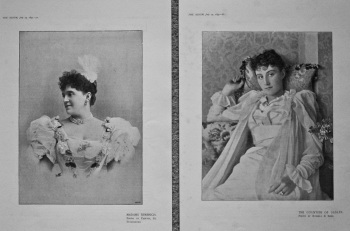Madame Sembrich. & The Countess of Dudley. 1895.