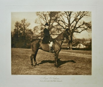 Major C. Jackson. Master of the South & West Wilts Foxhounds. 1908.