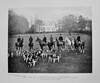 """Meet of the """"H.H."""" at Ropley, at the Residence of the Late Mr. H. Deacon. 1897."""