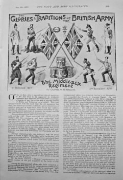 The Glories & Traditions of the British Army : The Middlesex Regiment. 1897.