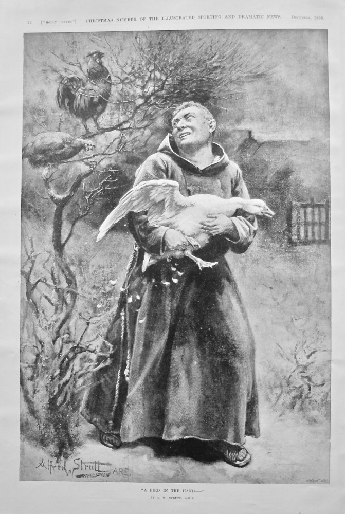 """A Bird in the Hand-"". 1899."