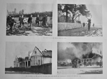 The Burning of the London Scottish Golf Club House on Wimbledon Common on February 9th. 1900.