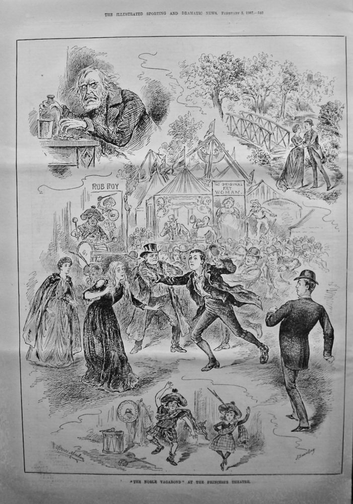 """The Noble Vagabond"" at the Princess's Theatre. 1887."