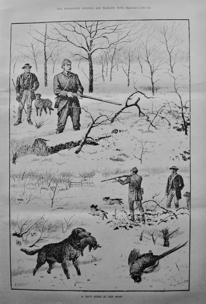 A Day's Sport in the Snow. 1887.