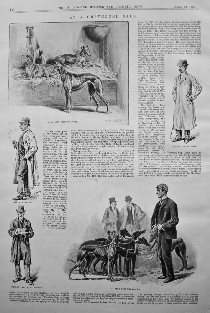 At a Greyhound Sale. 1900