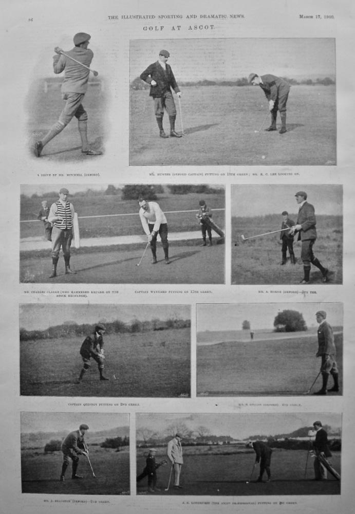 Golf at Ascot. 1900.