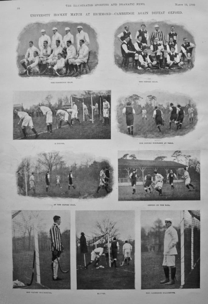 University Hockey Match at Richmond - Cambridge again defeat Oxford. 1900.