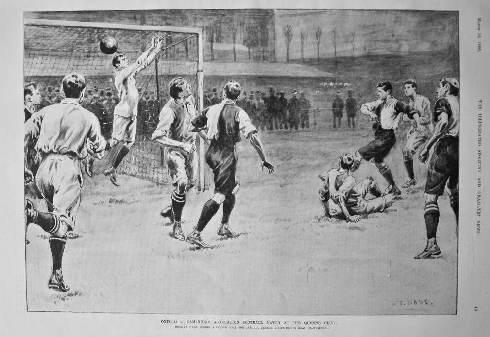 Oxford v. Cambridge Association Football Match at the Queen's Club. 1900.