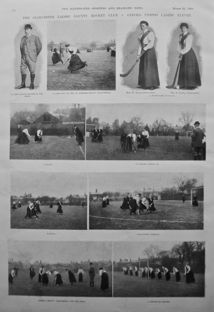 The Gloucester Ladies' County Hockey Club v. Oxford United Ladies' Eleven. 1900.