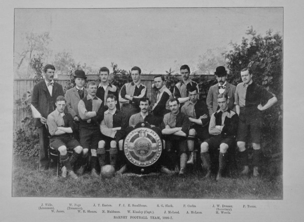 Barnet Football Team, 1896-7.
