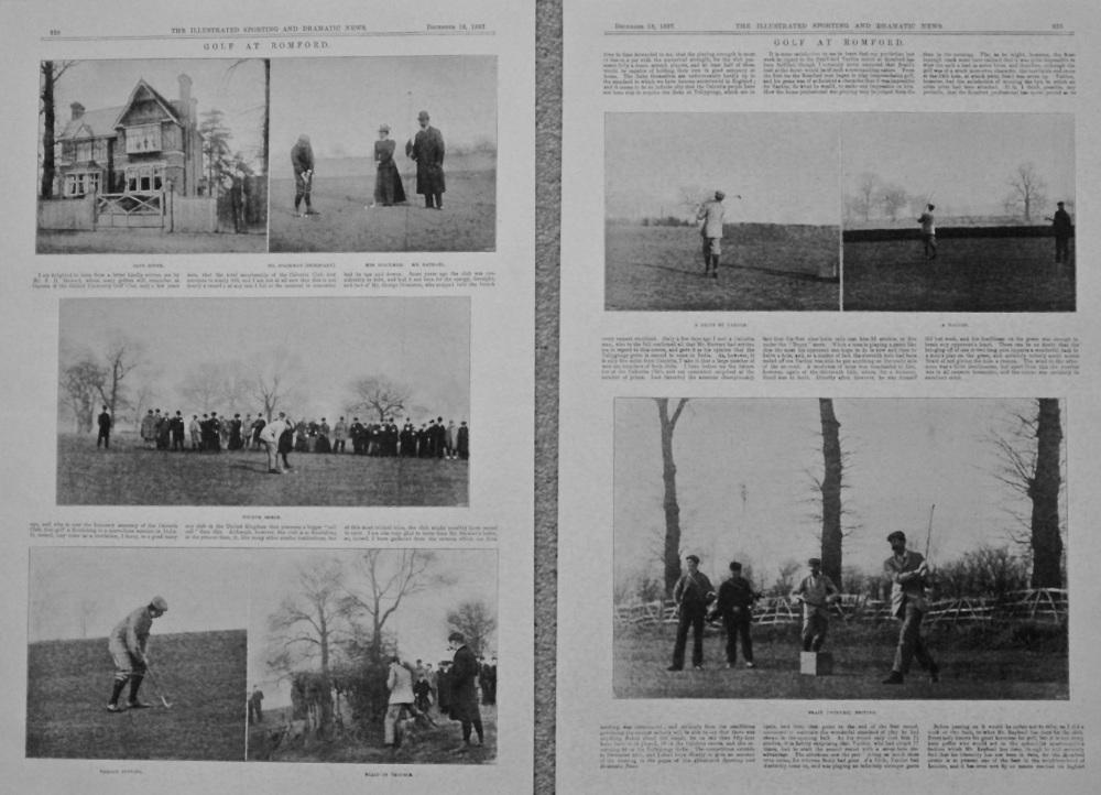 Golf at Romford. 1897.