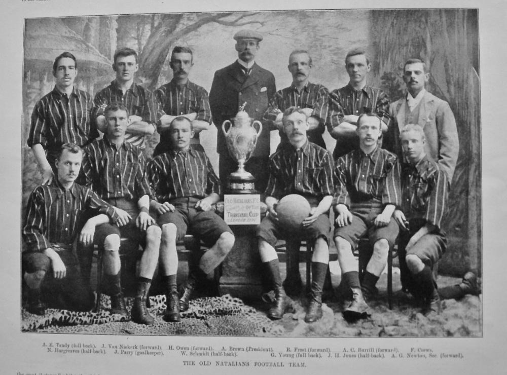 The Old Natalians Football Team. 1897.