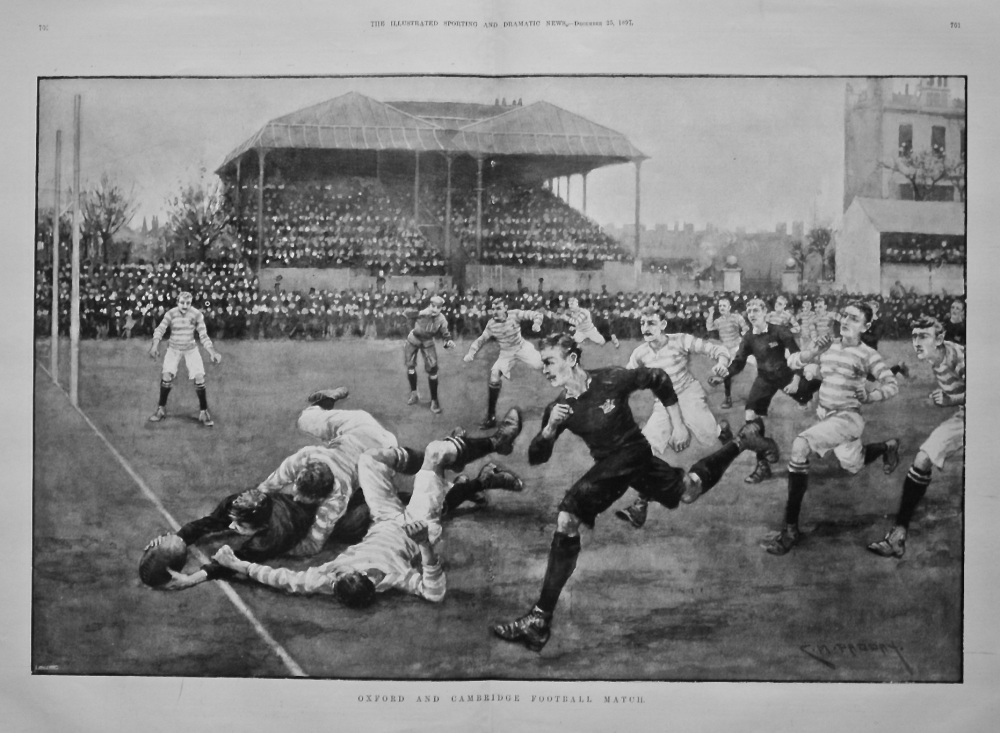 Oxford and Cambridge Football Match. (Rugby) 1897.