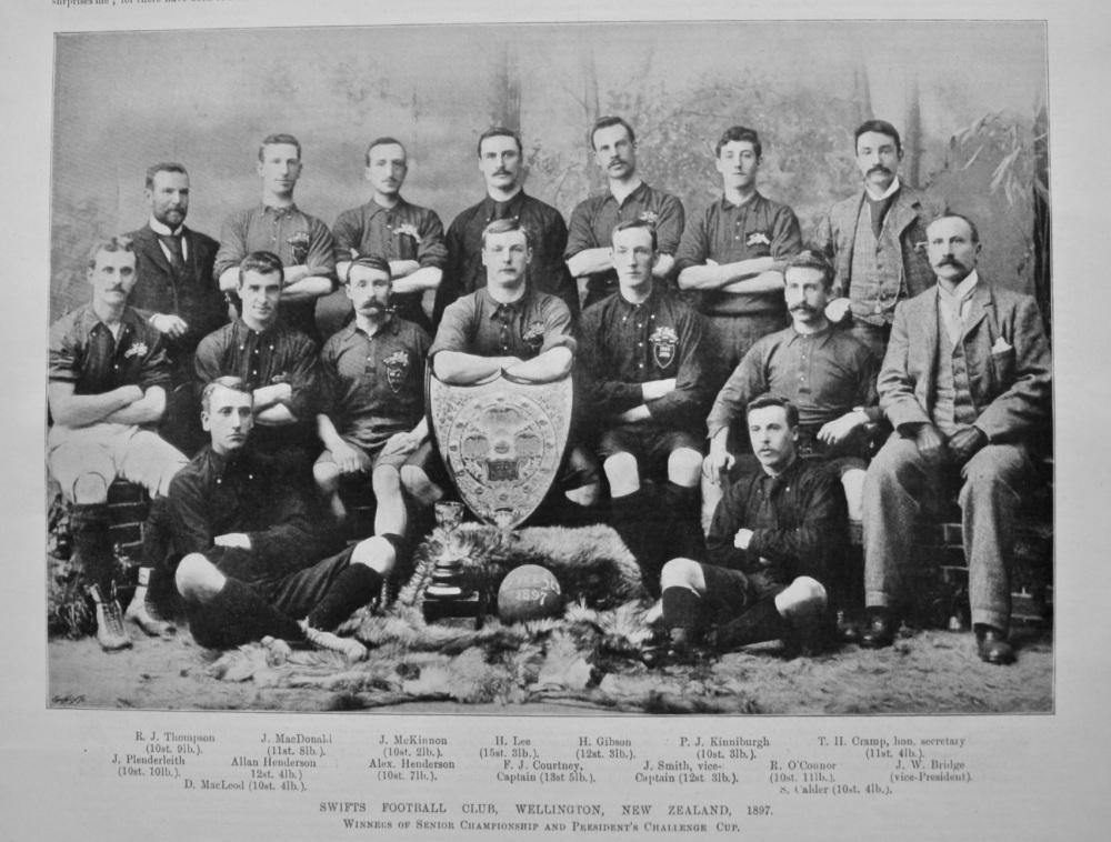 Swifts Football Club, Wellington, New Zealand, 1897.