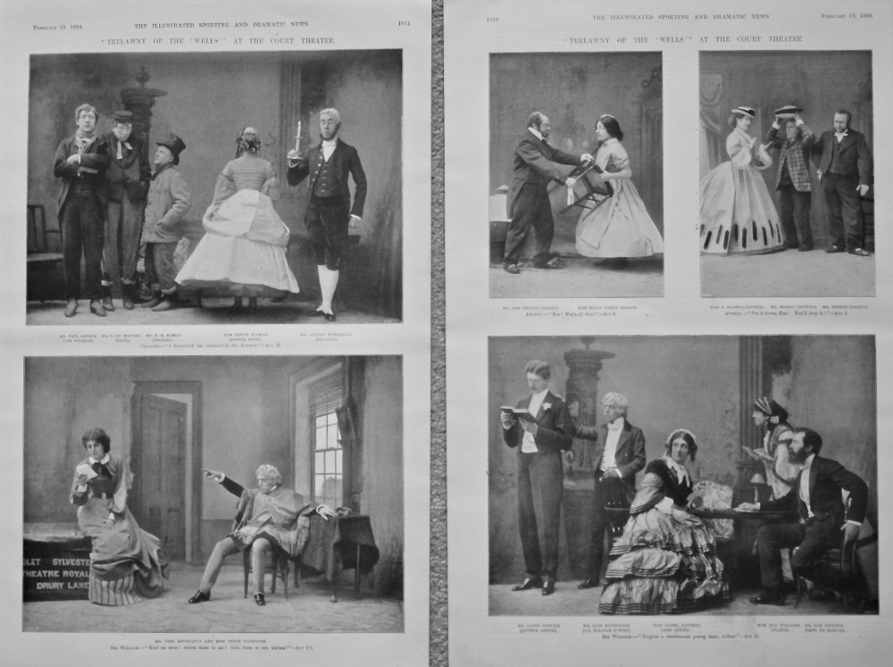 """""""Trelawny of the 'Wells'"""" at the Court Theatre. 1898."""
