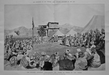 Sir William Lockhart Proclaiming the Terms of Peace to the Tribes. 1897.