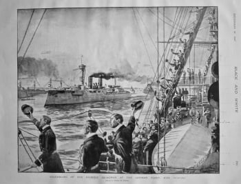 Assembling of the Chinese Squadron of the German Fleet, Kiel. 1897.