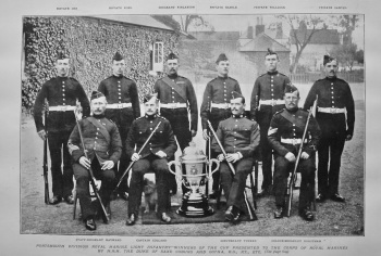 Portsmouth Division Royal Marine Light Infantry - Winners of the Cup Presented to the Corps of Royal Marines by H.R.H. The Duke of Saxe Coburg and Got