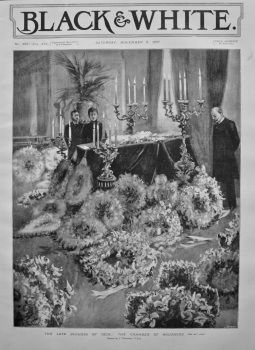 The Late Duchess of Teck : The Chamber of Mourning. 1897.