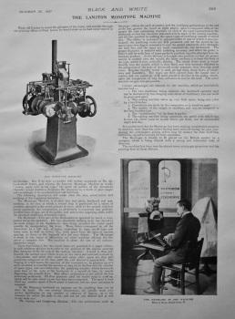 The Lanston Monotype Machine. 1897.