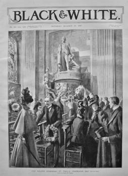 The Nelson Memorial, St. Paul's, Trafalgar Day. 1897.