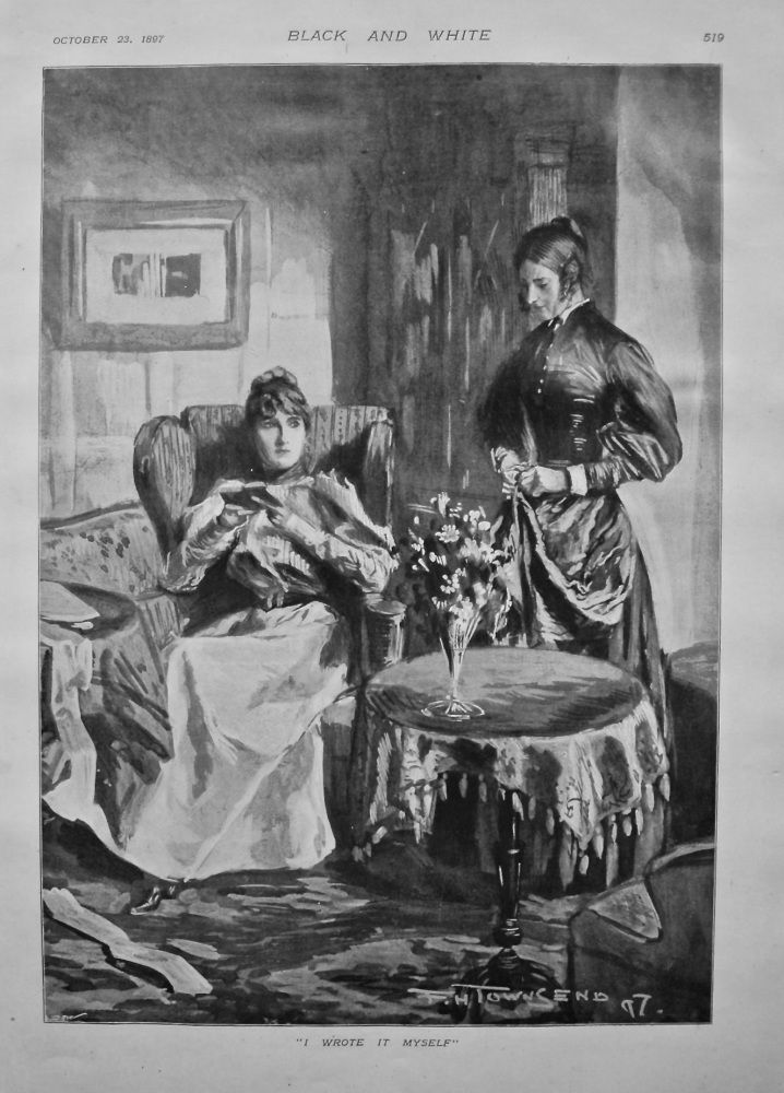 """I Wrote It Myself"". 1897."