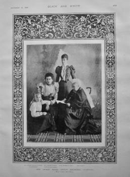 The Latest Royal Group, Balmoral. 1897.