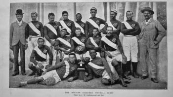 The African Coloured Football Team. 1897.