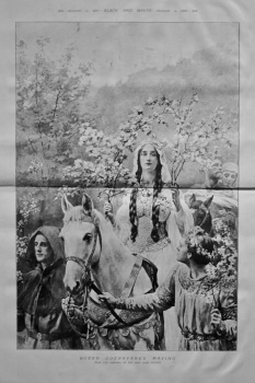 Queen Guenevere's Maying. (From the Painting by the Hon. John Collier.) 1897.