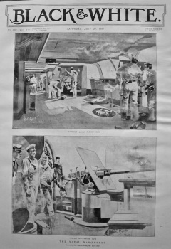 The Naval Manoeuvred. Firing Hotchkiss Gun. 1897.