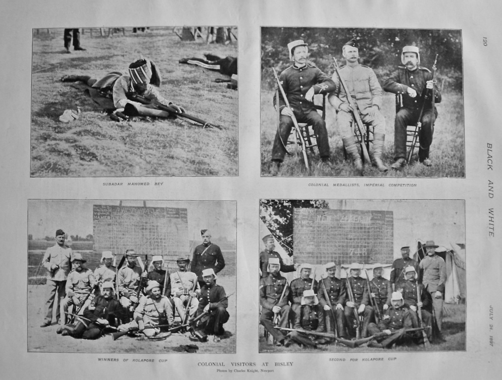 Colonial Visitors at Bisley. 1897.