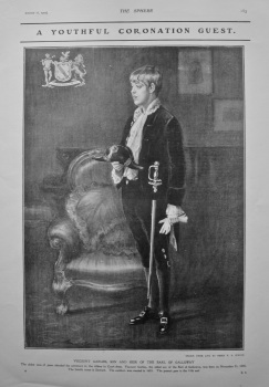 A Youthful Coronation Guest : Viscount Garlies, Son and Heir of the Earl of Galloway. 1902.