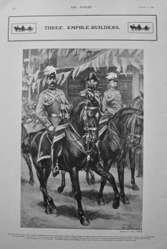 Three Empire-Builders. Major-General Sir Alfred Gaselee, Sir Edward Seymour, and Lord Kitchener. 1902.