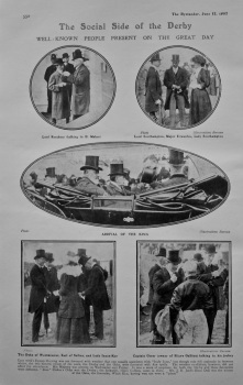 The Social Side of the Derby : Well-known people Present on the Great Day. 1907.