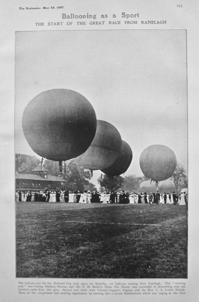 Ballooning as a Sport : The Start of the Great Race from Ranelagh. 1907