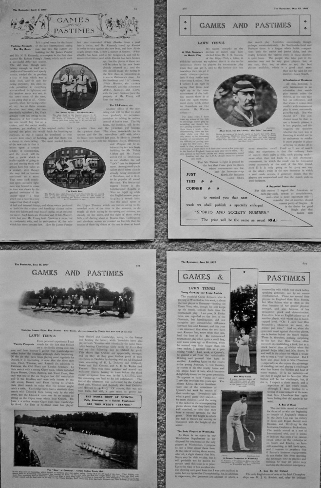 Games and Pastimes. 1907.