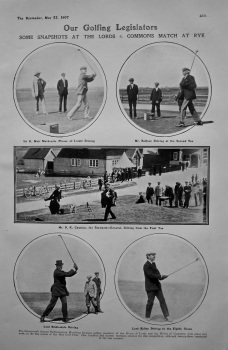 Our Golfing Legislators : Some Snapshots at the Lords v. Commons Match at Rye. 1907.