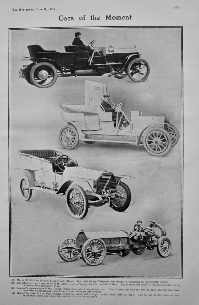 Cars of the Moment. 1907.